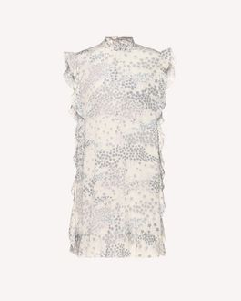 REDValentino Silk dress with Cascading stars print