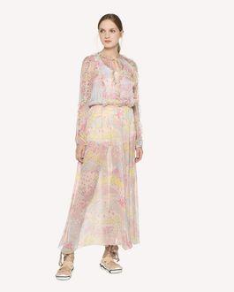 REDValentino Kleid aus Seidenchiffon mit Sternen-Print