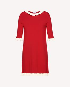 REDValentino Stretch viscose knit dress with ruffle details