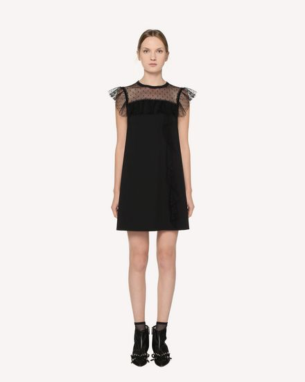 Point d'Esprit Tulle detail jersey dress