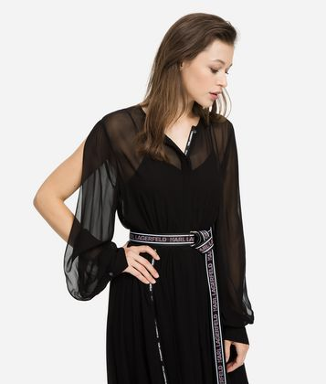 KARL LAGERFELD MAXI SHIRT DRESS