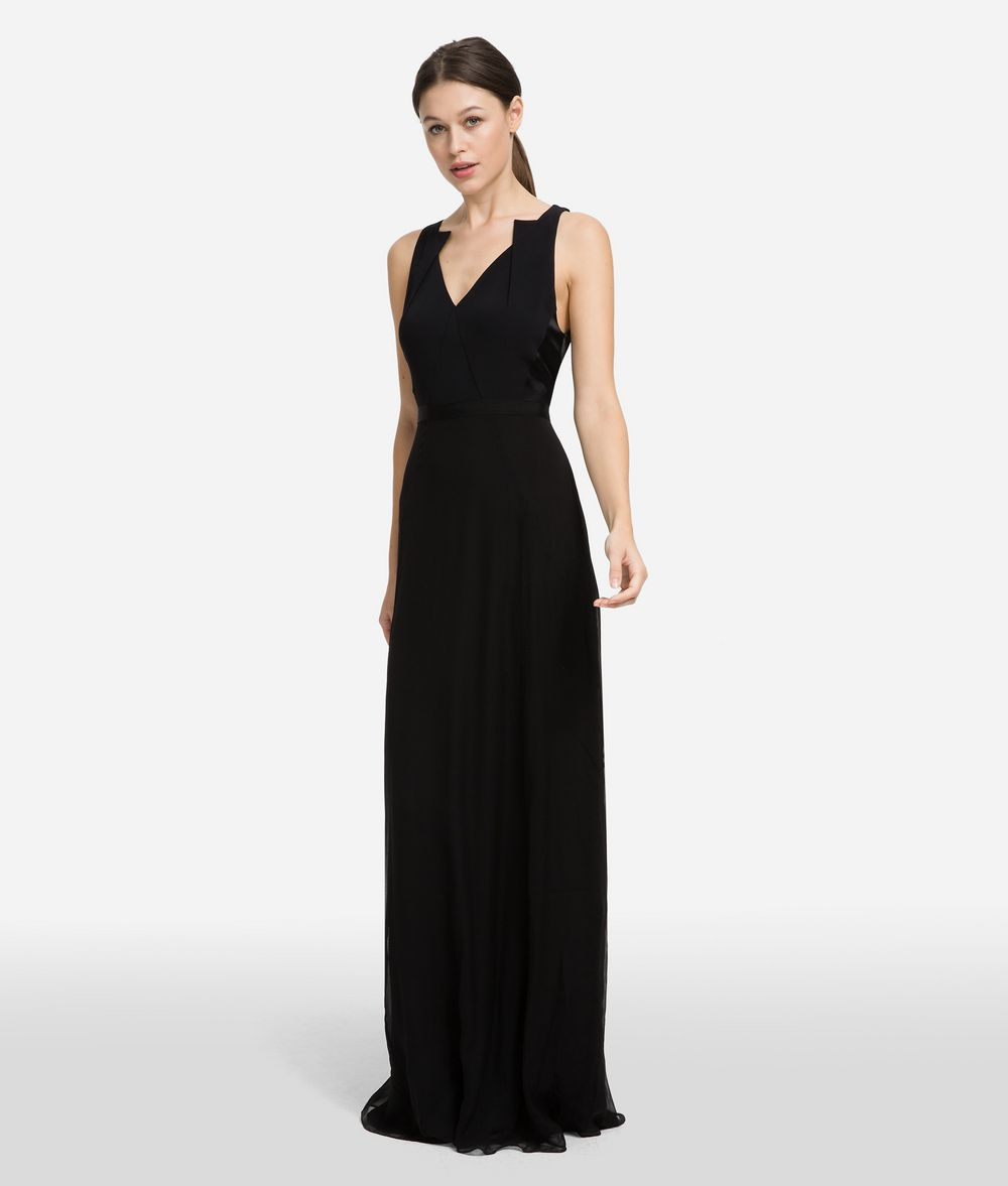 KARL LAGERFELD Длинное шёлковое платье Платье Для Женщин f