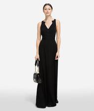 KARL LAGERFELD Длинное шёлковое платье 9_f