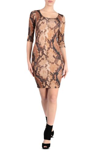 Short dress with python print