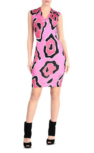 JUST CAVALLI Short dress Woman Dress with panther print design f