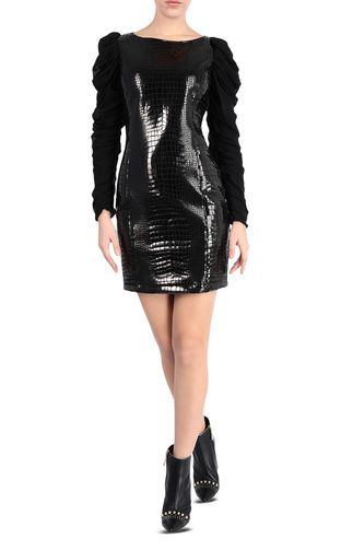 JUST CAVALLI Dress Woman Short crocodile-print dress f