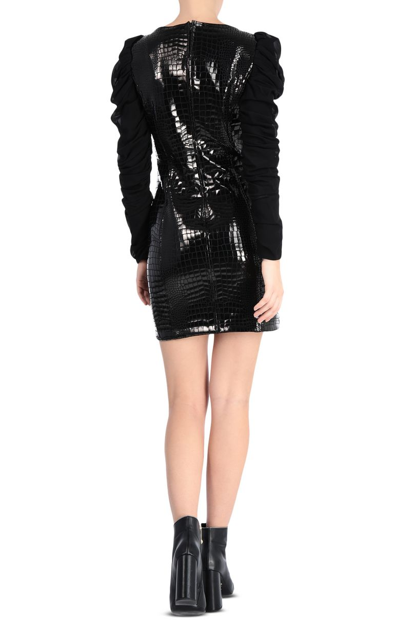 JUST CAVALLI Short crocodile-print dress Dress Woman r