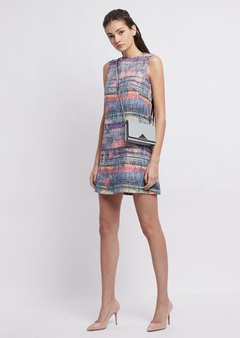 Multicolour tweed dress