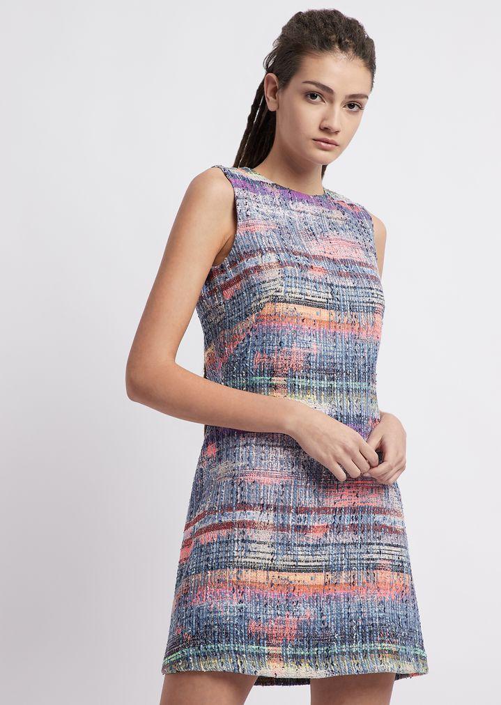 e345fd10b8ea Multicolor tweed dress | Woman | Emporio Armani