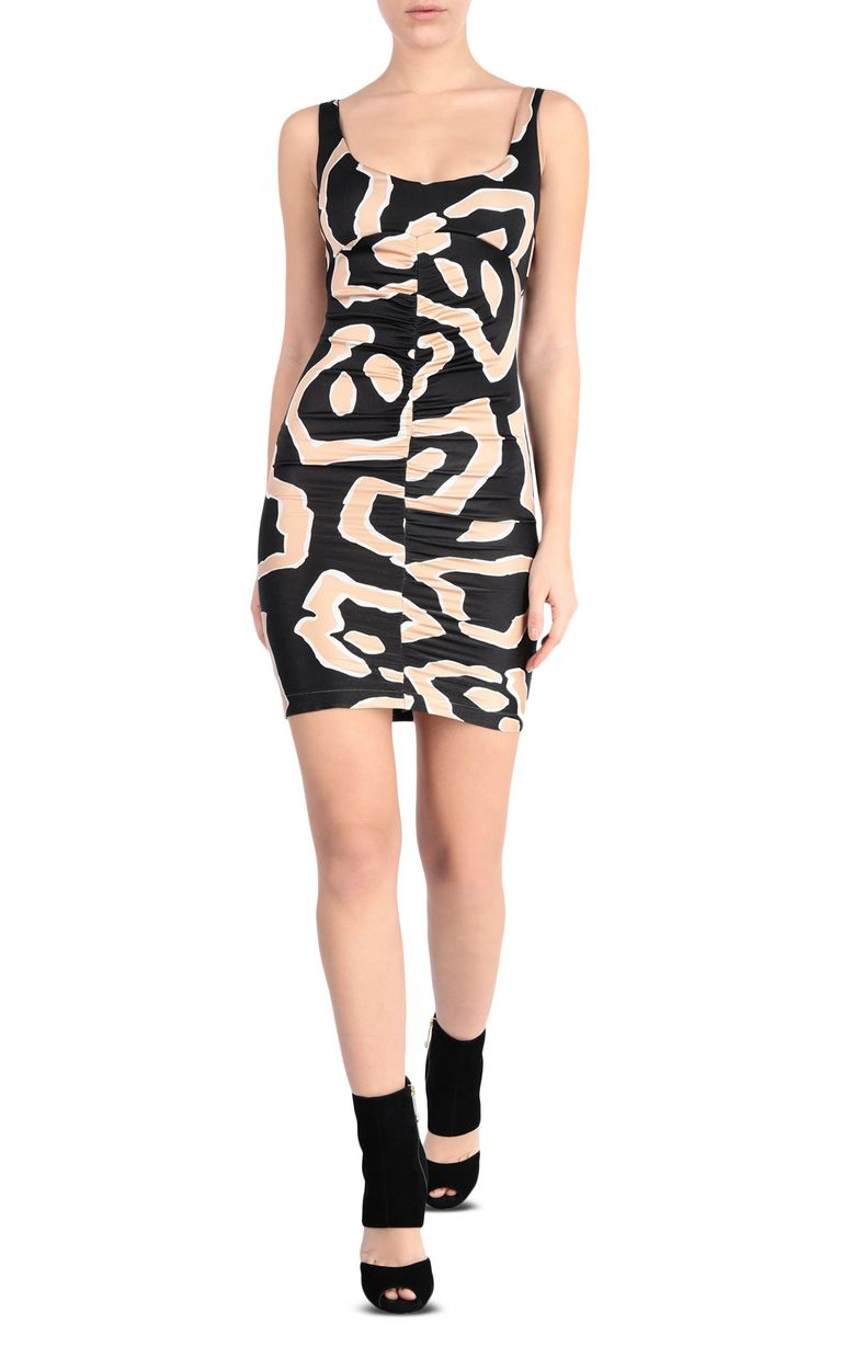 JUST CAVALLI Dress with panther print design Short dress Woman f