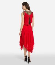 KARL LAGERFELD Silk Dress with Mesh 9_f