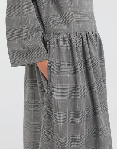 DRESSES Checked necktie maxi dress