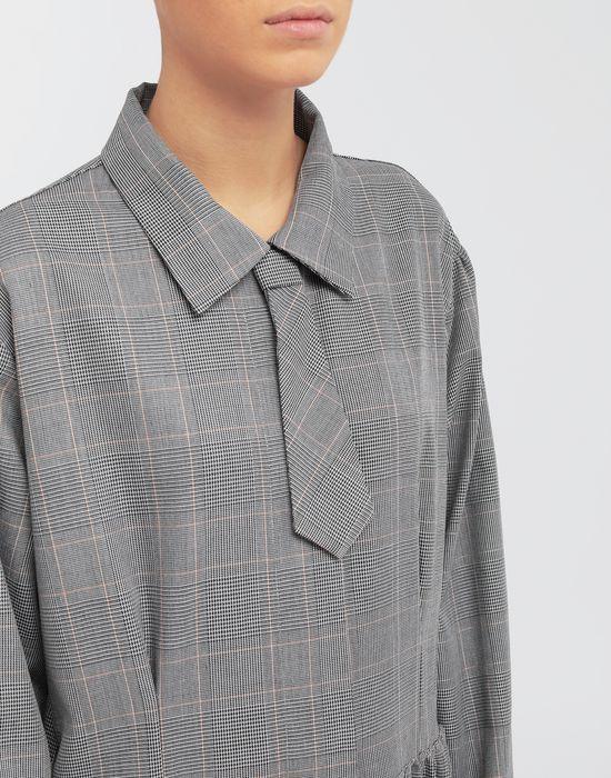 MM6 MAISON MARGIELA Checked necktie maxi dress 3/4 length dress [*** pickupInStoreShipping_info ***] a