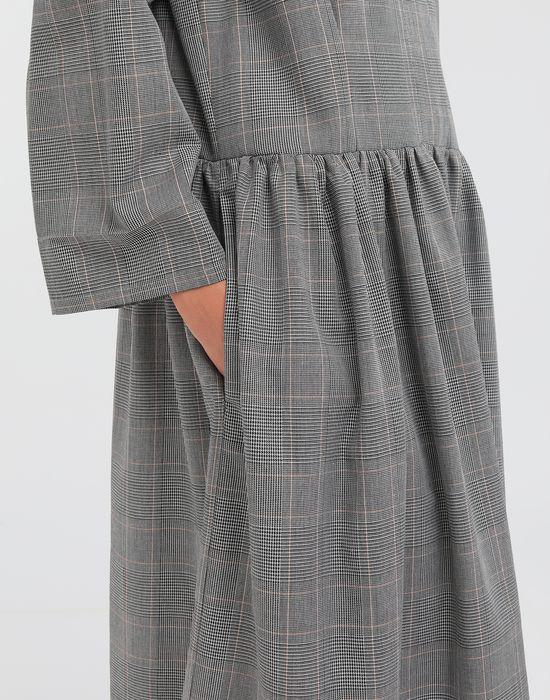 MM6 MAISON MARGIELA Checked necktie maxi dress 3/4 length dress [*** pickupInStoreShipping_info ***] b