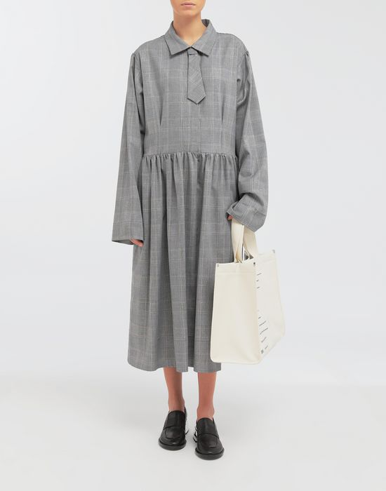 MM6 MAISON MARGIELA Checked necktie maxi dress 3/4 length dress [*** pickupInStoreShipping_info ***] d