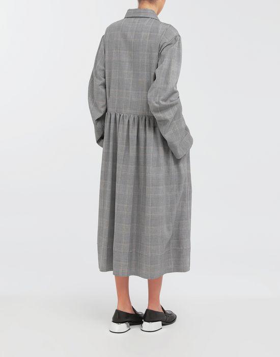 MM6 MAISON MARGIELA Checked necktie maxi dress 3/4 length dress [*** pickupInStoreShipping_info ***] e