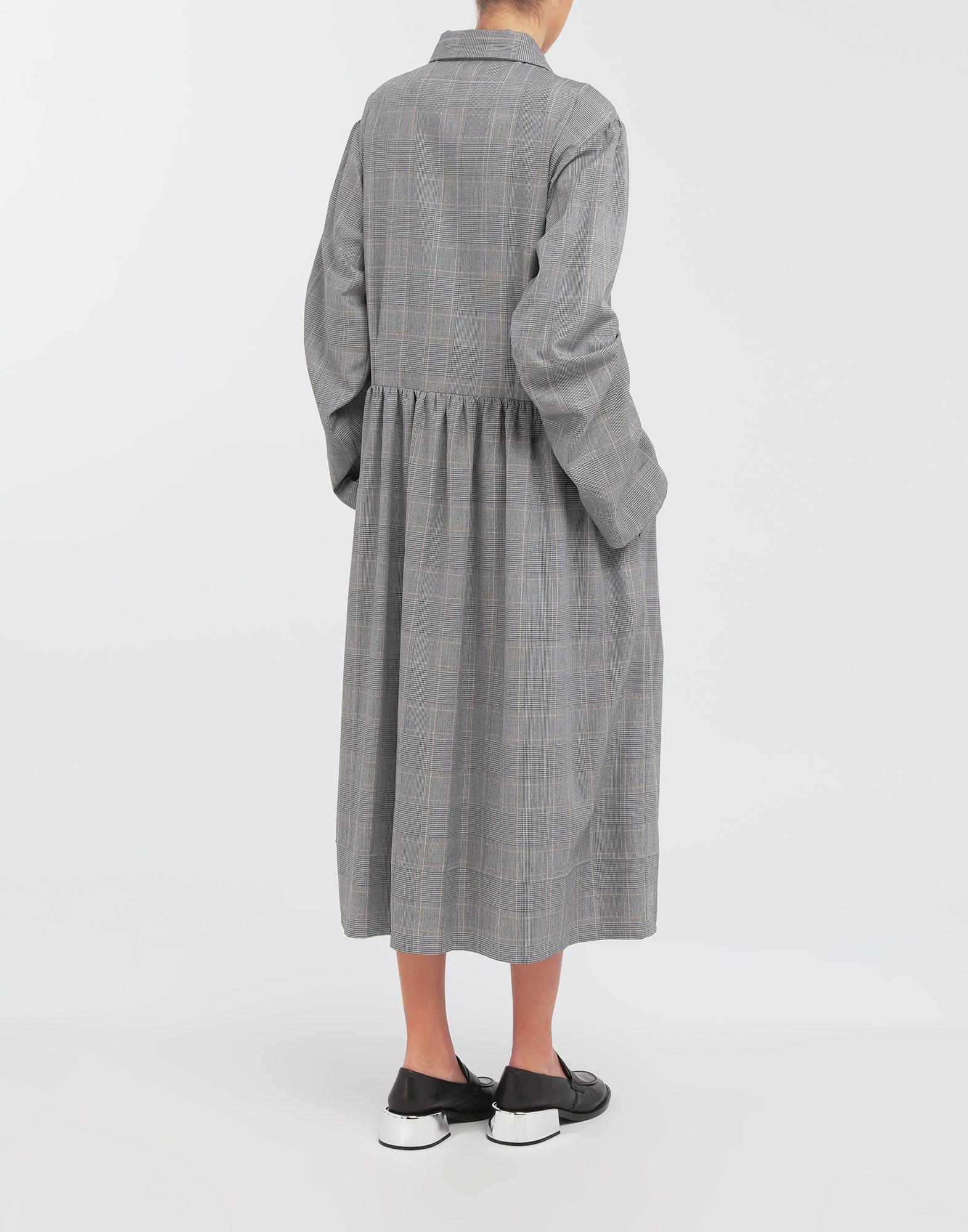 MM6 MAISON MARGIELA Checked necktie maxi dress 3/4 length dress Woman e