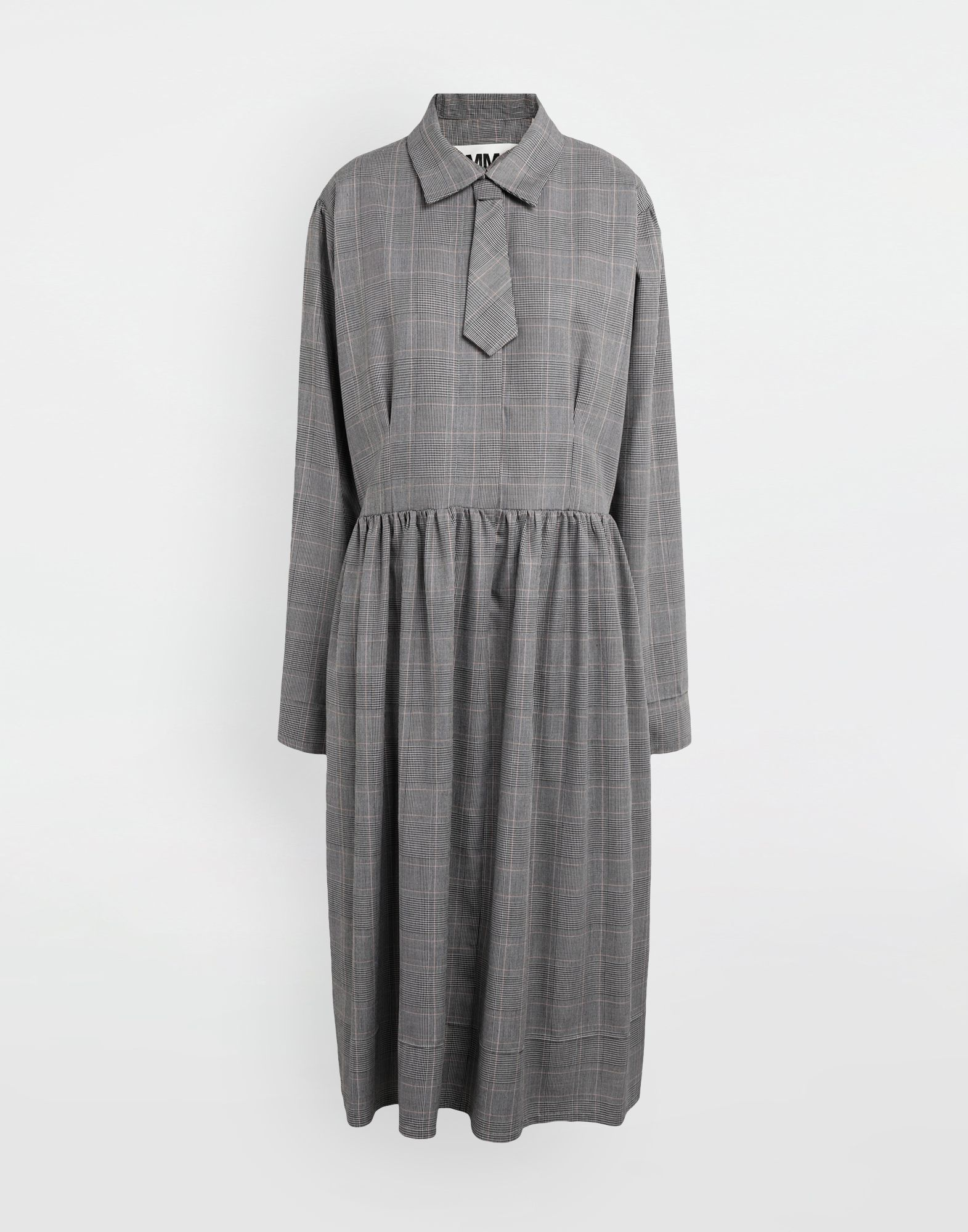 MM6 MAISON MARGIELA Checked necktie maxi dress 3/4 length dress Woman f