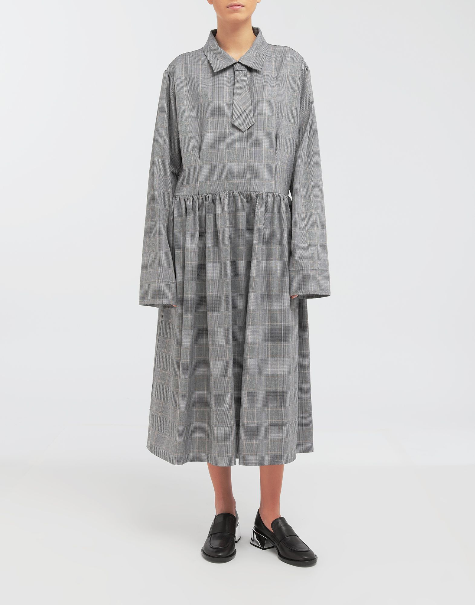 MM6 MAISON MARGIELA Checked necktie maxi dress 3/4 length dress Woman r