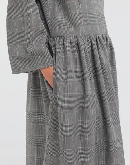 MM6 MAISON MARGIELA Checked necktie maxi dress 3/4 length dress Woman b