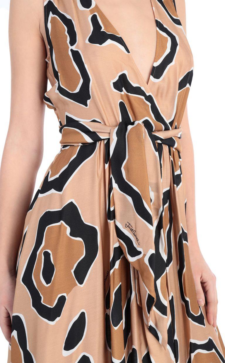 JUST CAVALLI Dress with panther print design Dress [*** pickupInStoreShipping_info ***] e