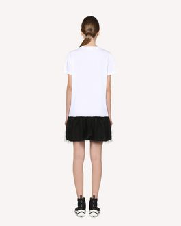 "REDValentino ""Forget Me Not"" printed  T-shirt dress"