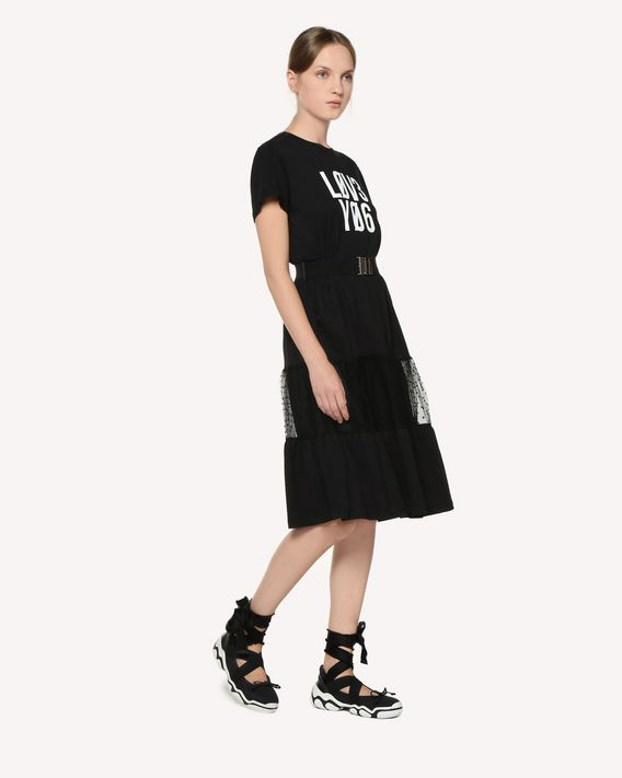 "REDValentino ""Love you"" printed  jersey dress"