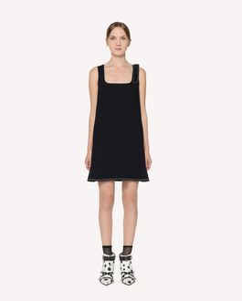 REDValentino Fused tech dress with dotted line embroidery