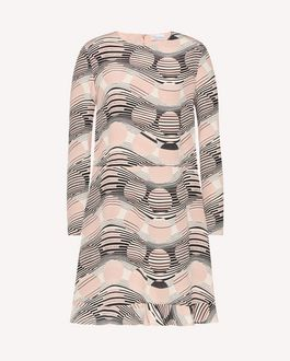 REDValentino Printed dress Woman RR0VA6P5UWZ MM0 a