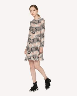 REDValentino Silk dress with Floating Moons print