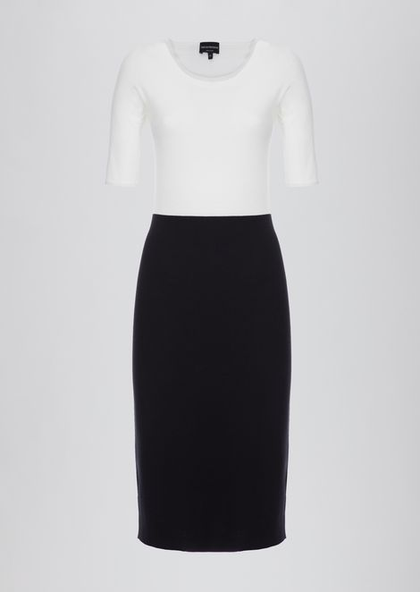 Sheath dress with two-piece effect