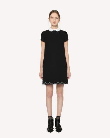 REDValentino 缝线细节双层科技织物连衣裙