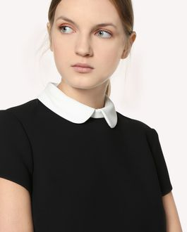REDValentino Fused Tech dress with scalloped dotted line embroidery