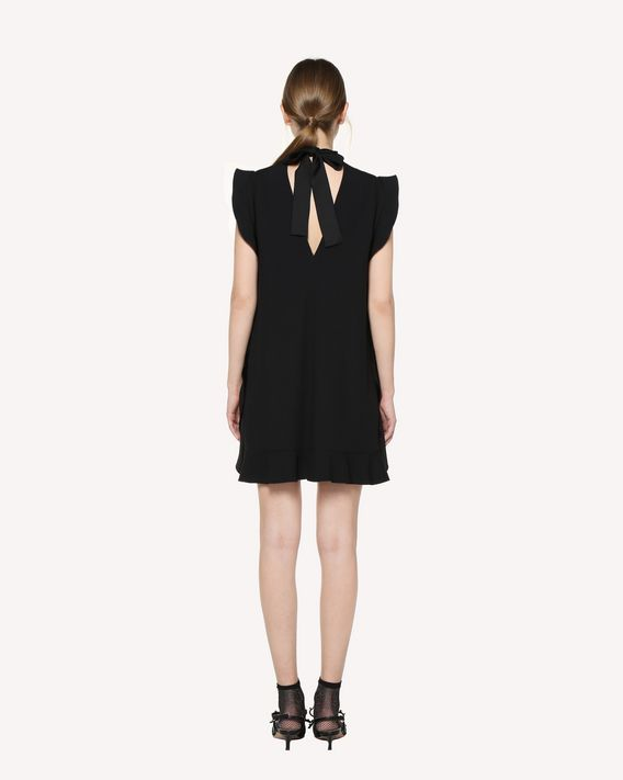 "REDValentino ""Satin-back crepe dress with ""Love You"""" print """