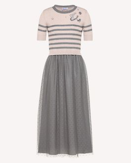 REDValentino Knit Dress Woman RR3KDA20LMB EZ9 a