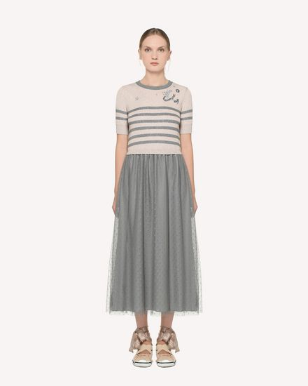 REDValentino Knit Dress Woman RR3KDA20LMB EZ9 f