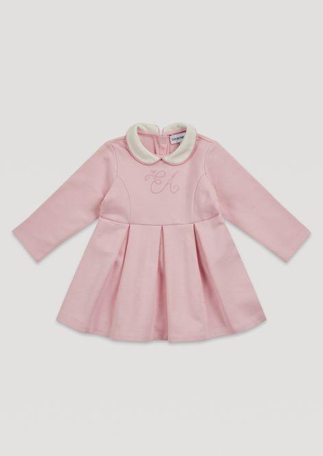 プリーツスカートドレス ラインストーンロゴ&カラー