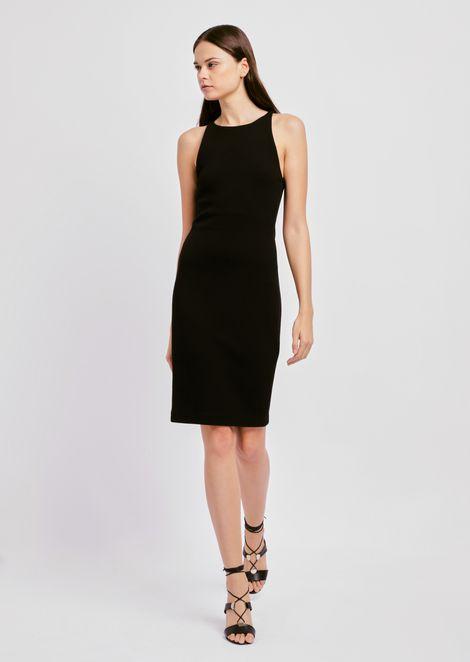 Платье из стеганого джерси с объемным вафельным узором