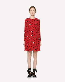 REDValentino Silk dress with Stars and Shadows print