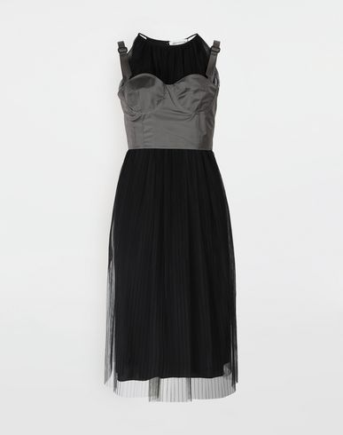 MAISON MARGIELA 3/4 length dress [*** pickupInStoreShipping_info ***] Layered tulle midi dress f