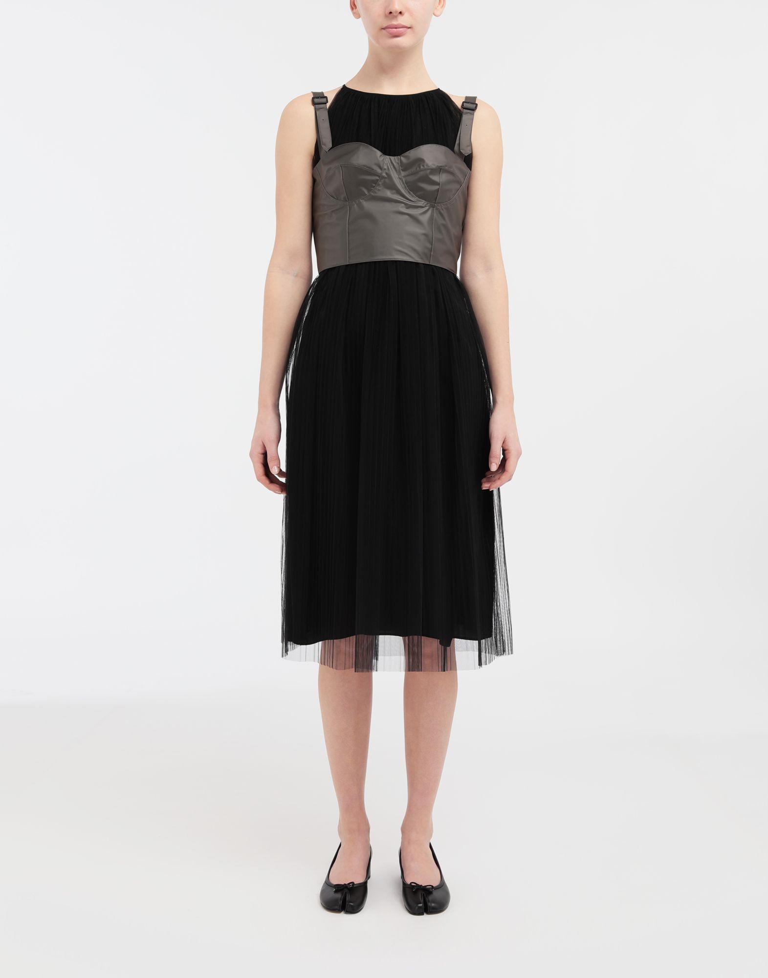 MAISON MARGIELA Layered tulle midi dress 3/4 length dress Woman r