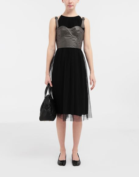 MAISON MARGIELA Layered tulle midi dress 3/4 length dress Woman d