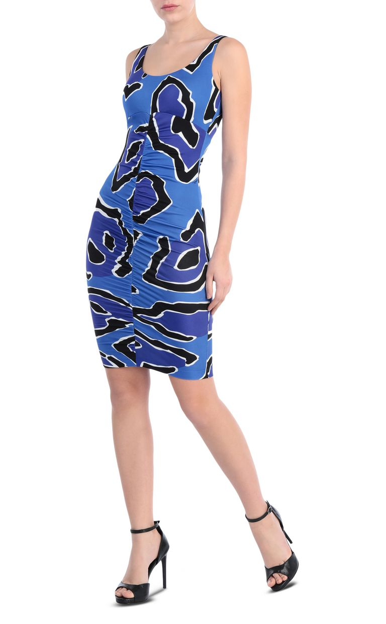 JUST CAVALLI Dress with panther print design Short dress Woman d