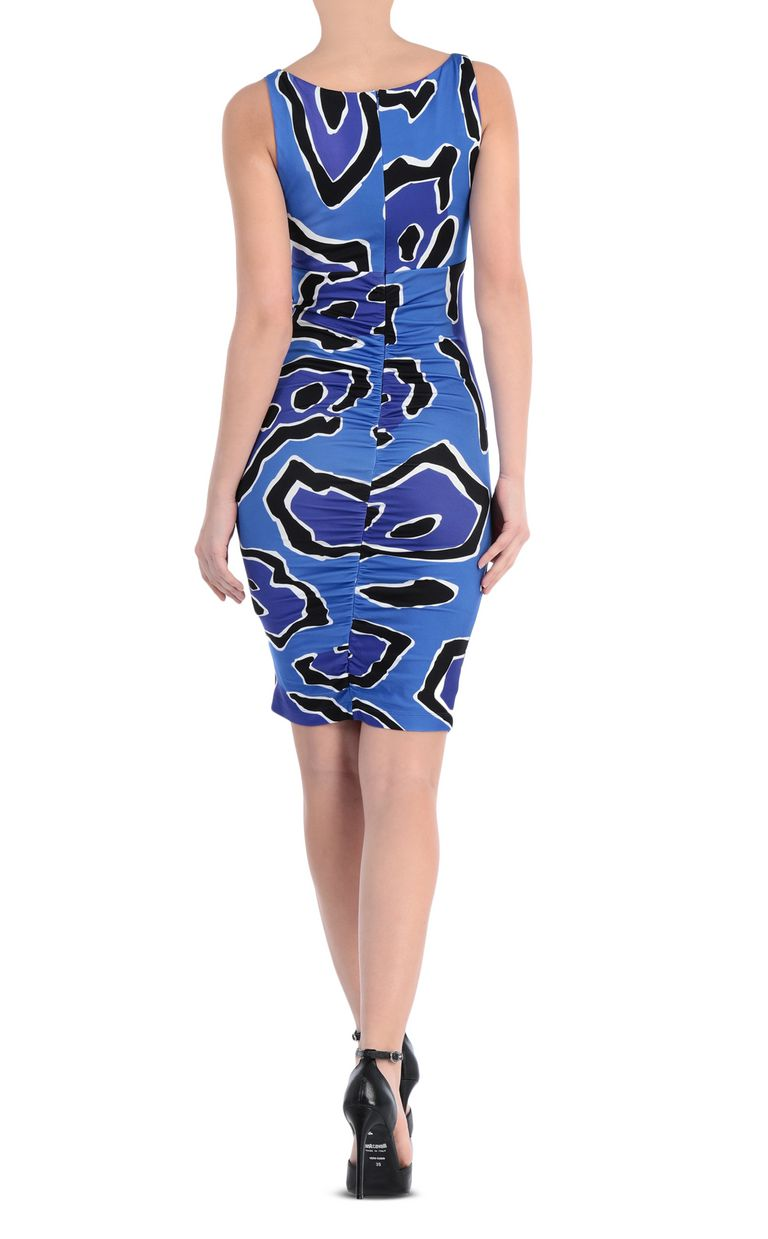 JUST CAVALLI Dress with panther print design Short dress Woman r