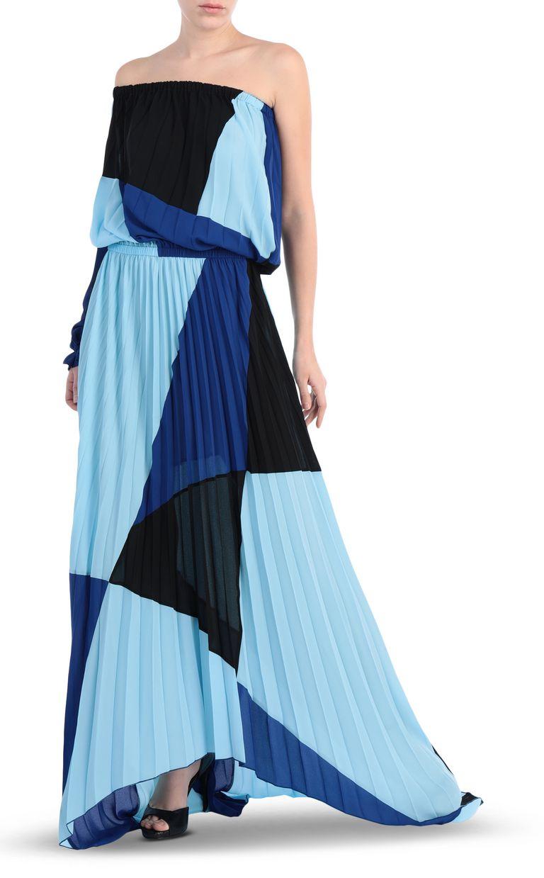 JUST CAVALLI Off-the-shoulder colour-block dress Long dress Woman d