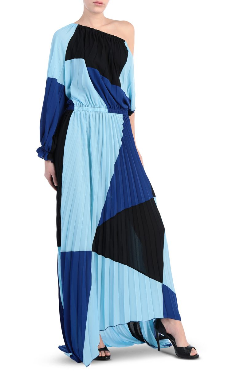JUST CAVALLI Off-the-shoulder colour-block dress Long dress Woman f