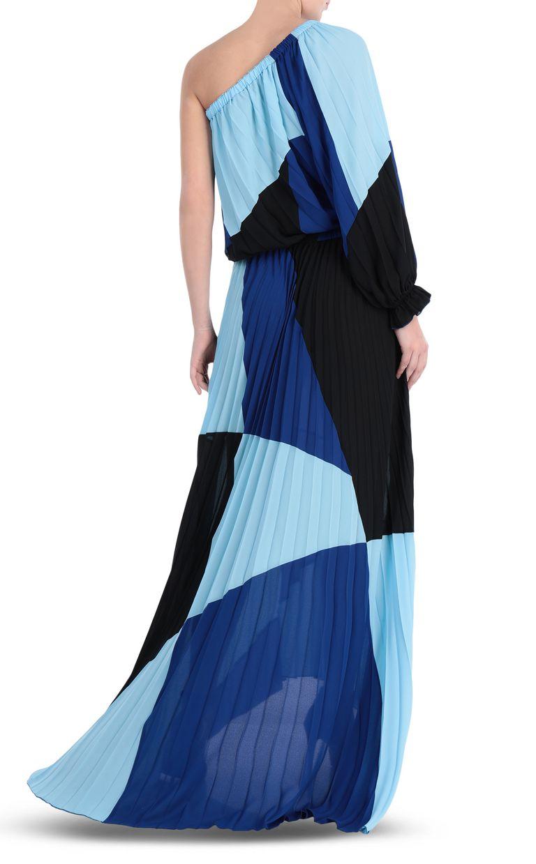 JUST CAVALLI Off-the-shoulder colour-block dress Long dress Woman r