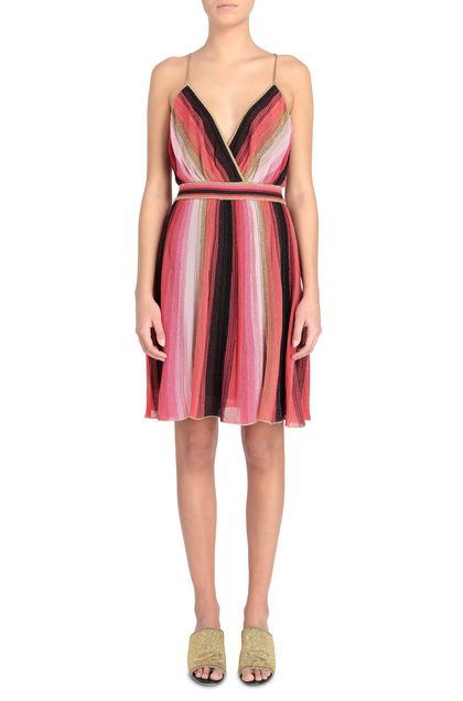 M MISSONI Dress Coral Woman - Back