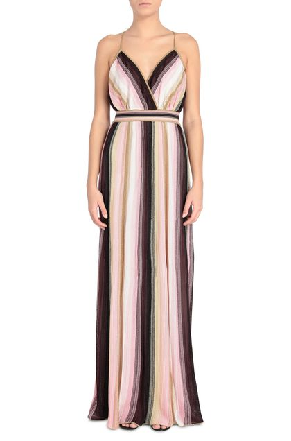 M MISSONI Long dress Pink Woman - Back