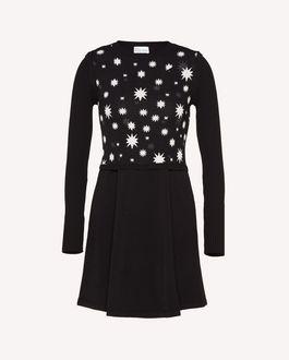 REDValentino Stretch viscose knit dress with Stars and Shadows jacquard